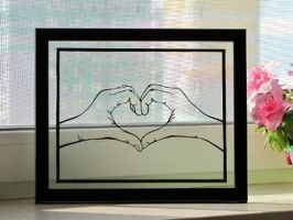 Heart Hands Handmade Original Papercut by DreamPapercut