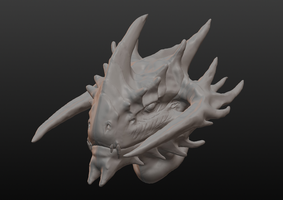Great Demon Dragon WIP by tsunami-noboru