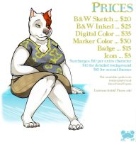 price list by therealbloodhound