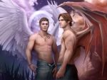 Michael and Lucifer by NaSyu