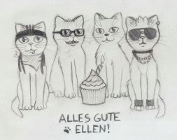 Tokio Hotel Cats by MilaLouise