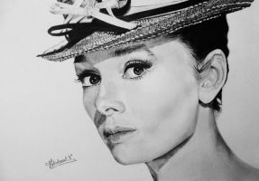 Audrey Hepburn by Nathalief87