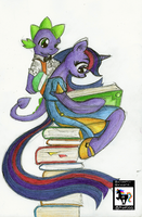 Twilight Sparkle (and Spike!) Sarcastically Drawn by SarcasticUnicorn