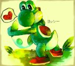 Yoshi and his egg by VEKTTOR