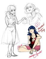 Miraculous Ladybug: Marinette Doodles by Rice-Lily