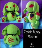 Zombie Bunny Plush by SmileAndLead