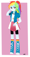 Rainbow Dash in Equestria Girls by PinkySweety588