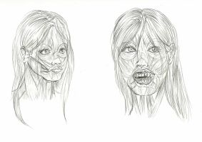 Face muscle studies by Waldbraut