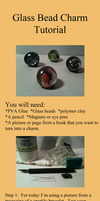 Glass bead charm tutorial by WhispMI21