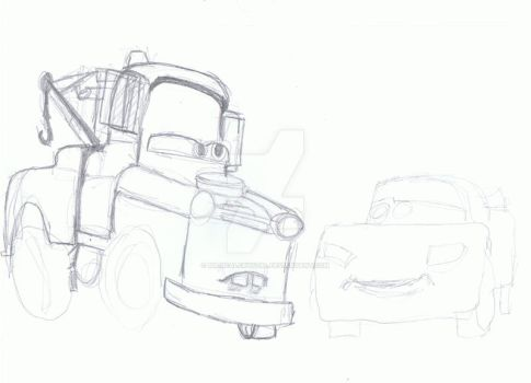 Mater and McQueen WIP by MagicalCrystal