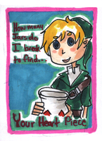 Valentine Card: Link by HappehCakes