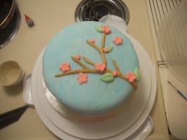 Cherry Blossom Cake by Michi-Mii