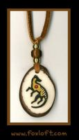 Thylacine Totem Tagua Pendant by Foxfeather248