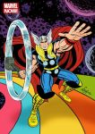 Marvel Now! Trading Card Illustration: Thor by DeJarnette