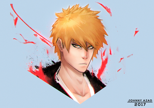 Ichigo Sketch by JohnnyAzad