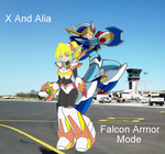 X and Alia Falcon Armor Mode by Bladezero25