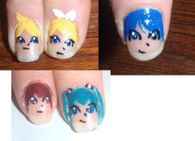 Nail Art Sample.:.1 by MossmaskXRainwhisker