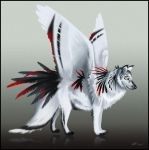 Winged Wolf - design for sale (closed). by Noxeri
