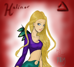 Third entry to Gerganafen's contest - Halinor by PearlwhiteCrescent