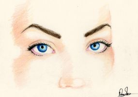 Art found me with her blue eyes by Granados101