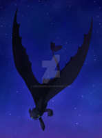 HTTYD: Night Fury by xRashana