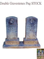 Double Gravestones Png STOCK by KarahRobinson-Art