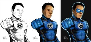 Blue Lantern Progress by TruZe