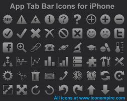 App Tab Bar Icons for iPhone by shockvideoee