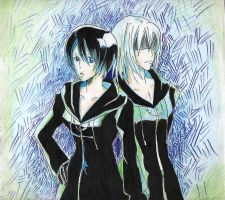 Xion and Riku by meenamas