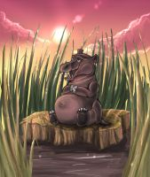 It's a Hippopotamus by tazrandus