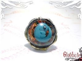 Blue Alien Foetus Ring by glo0bule