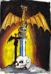 dragon sword by dracontologe