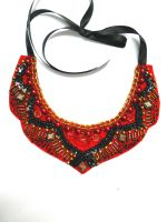 Bib collar necklace India Morocco inspired by AniDandelion
