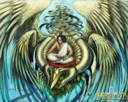 Devacurse : Heaven Swan Throne by rusharil