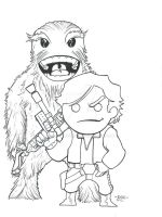 Han Solo and Chewbacca by MARR-PHEOS