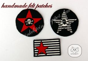 felt pirate patches by tinkelstein