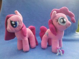 My Little Pony: Pinkie Pie and Pinkemena plushies! by vulpinedesigns