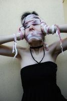 Me gauze, fake blood .new insanity. 14 by SilvieT-Stock