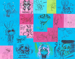 Post-it Doodles by MagicBunnyArt