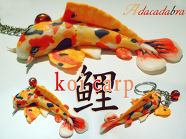 Koi Carp - Polymer Clay by Adaralbion