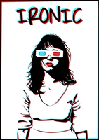 IRONIC - Hipster Girl by fadingaway