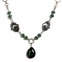 Green steampunk Necklace by CatherinetteRings