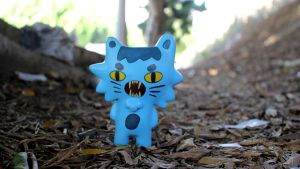 Cat lost in forest by ricebowlfactory