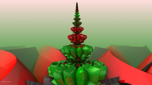 Mandelbulb Christmas Tree by PaMonk