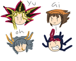 Yugioh Stick people by CybaAngel
