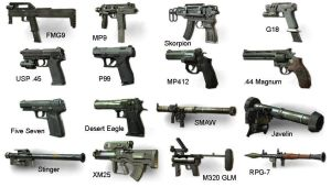 Call of Duty: Modern Warfare 3 Secondary Weapons by Scarlighter