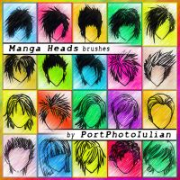 Manga Heads by epuscasu
