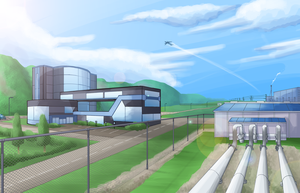 Valkyrie HQ and Geothermal Station by LucarioGirl4Ever