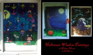 Halloween Window Paintings by cow41087
