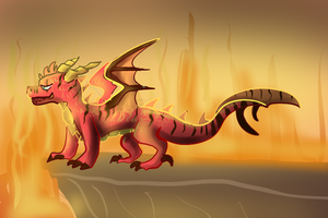 Flamid The Dragon by Dragoney
